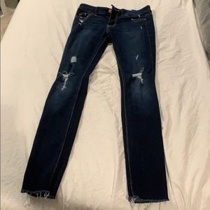 Ripped dark jeans from hollister